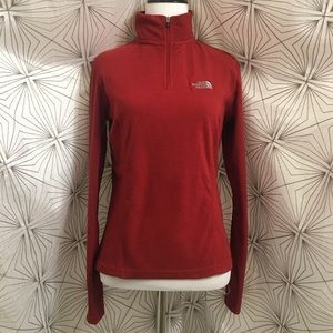The North Face Red Fleece Pullover Sweater